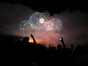 Feuerwerk vom Zürifäscht 2010 in Zürich in der Schweiz