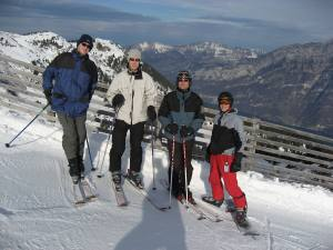 Skifahren in den Flumserbergen